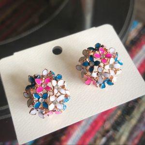 Jewelry - ⬇️$16 Multicolor Clover Bouquet Korean Earrings